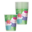 Cupcakesparty Papierbecher 8, Stk