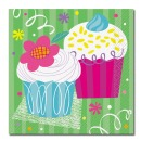 Servietten Cupcakesparty