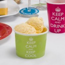 8 Eis Becher - Keep Calm, limette