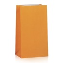 12 Papier Faltenbeutel, orange
