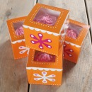 Funcakes 4 Single Cupcake Boxen Set, orange