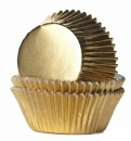 HoM Muffinf�rmchen, Folie, gold, 24 Stck.