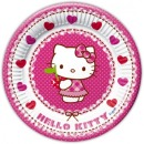 Hello Kitty Party-Teller aus Papier, 20 cm, 8 Stk