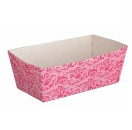Kitchen Craft 4 Loaf Papier-Backformen 12 cm, rosa