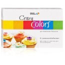 "Lebensmittelfarbe Pulver ""Crazy Colors"" Azo-frei, 6er-Set"