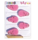 Lollipopformen mit Sticks, Barbapapa