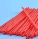 25 Plastik Cake Pops, Lollipop Sticks, rot, 15 cm