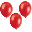 10 Party Luftballons, Farbe: Rot, 30 cm