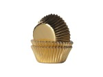 Mini-Muffinformen, gold, Folie, 50 Stck.