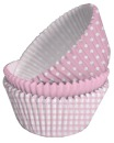 75 Muffinf�rmchen Set in 3 Designs, 5,0 cm, rosa Cupcakes