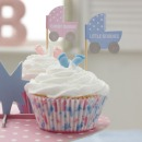 Cupcakes Picker aus Papier -Baby Shower, 20 Stck.