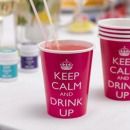 8 Papier Becher - Keep Calm, Hot Pink