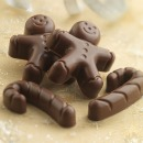Silikon-Backform, Pralinenform 12 Formen 'Gingerbread man & Zuckerstange'