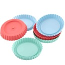 Kitchen Craft Silikon Backformen Set, Mini Tarte, pastel, 6 Stk.