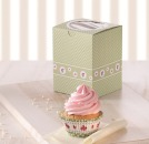 Birkmann Single Cupcake Box Cottage Garden, gr�n, 2 Stk.