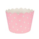Muffinf�rmchen, rosa, wei�, punkte, f�r Cupcakes, 12 Stk.