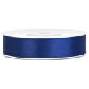 Satinband Navy Blue, 25 m x 1,2 cm