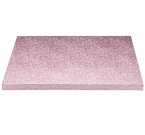Kitchen Craft Tortenboden, 30 cm, 12 mm dick, quadrat, 1 Stk., pink