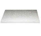 Kitchen Craft Tortenboden, 30 cm, 12 mm dick, quadrat, 1 Stk., silber