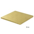 Cake Board Quadrat 35 cm, GOLD