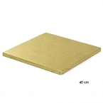 Cake Board Quadrat 40 cm, GOLD