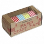 "Washi Tapes im Set, ""Candy Stripes"", 4 Rollen"