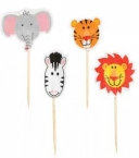 Wilton Cupcakes-Picker Set, Zoo-Tiere, 24 Stck.
