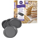 Wilton Backformen Easy Layers, Schichtkuchen, 4er Set, 20 cm